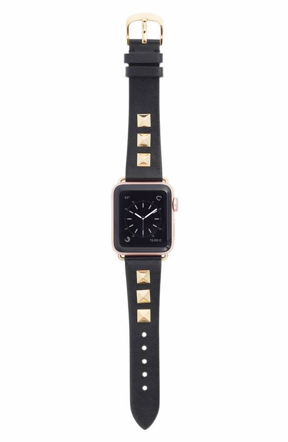 Best apple watch accessories: Gold studded band by Bezels & Bytes at Nordstrom | Holiday Tech Guide 2017