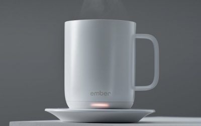 Hot coffee? Yes please! The Ember smart coffee mug is every parent's dream.