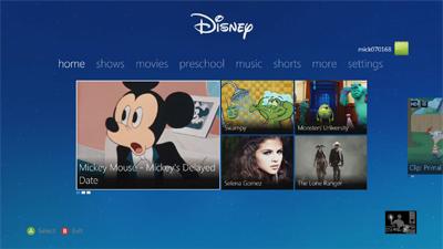 Disney Interactive, now on your Xbox 360