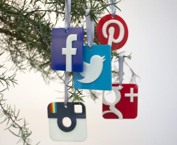 Social Media Christmas Ornaments   Cool Mom Picks
