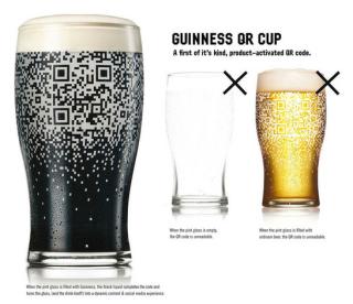 Piquing our Geek — Guinness QR Code pint glass
