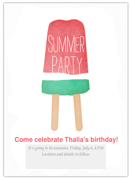 The cutest online invitations for summer parties