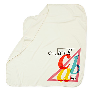 Pythagorean Theorem baby blanket  | Cool Mom Tech