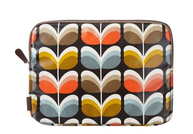 Orla Kiely fabric on the outside, your beloved laptop on the inside. Sweet combo.