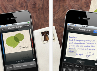 ThankYouPro – One more way to send thank you notes from your iPhone. Nice ones, too.