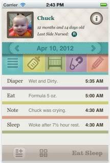 Eat Sleep app helps track your baby's essential activities