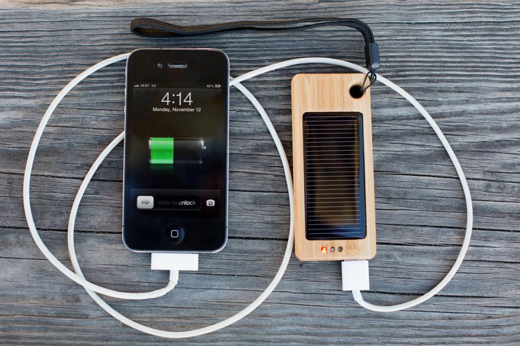 The bamboo solar charger takes green tech to a new level