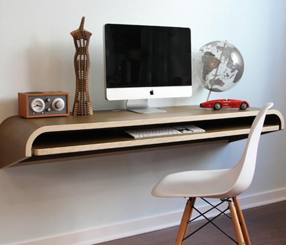Cool Desks: Less Computer Desk, Less Mess