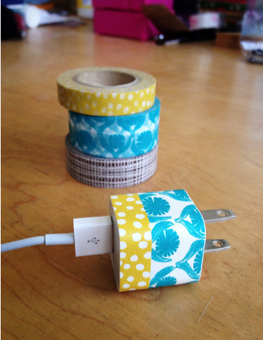 DIY Washi Phone Charger – crafty, techy genius.