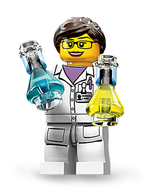 The female LEGO scientist minifig: only a few hundred years after actual female scientists have been changing the world