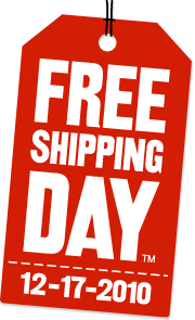 FREE Shipping Day – What do you know. It's today!