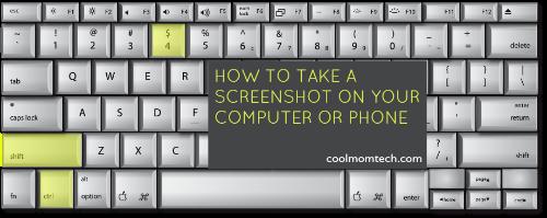 How do I take a screenshot on my computer or smartphone?
