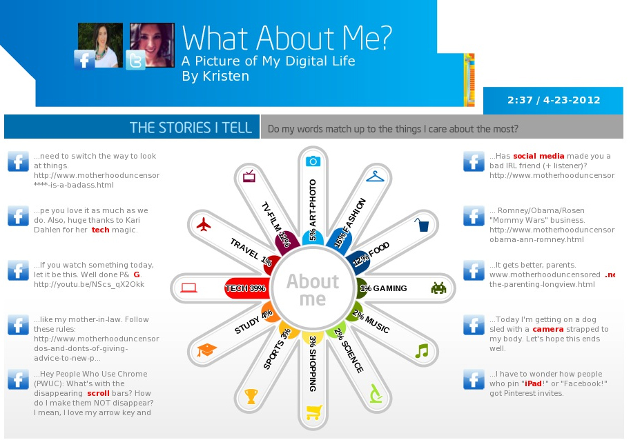 What do your Facebook updates say about you? Intel has a cool way to find out–plus a $500 gift card giveaway!