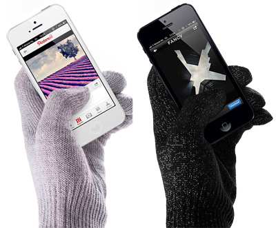 Touchscreen gloves that don't look like touchscreen gloves. Score!