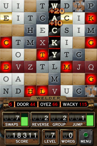 Word W.E.L.D.E.R. and Scramble With Friends. Word game addicts, beware