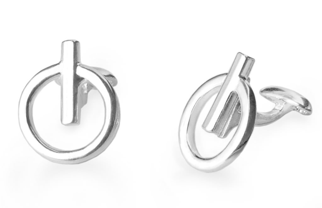 Power icon cufflinks on Cool Mom Tech