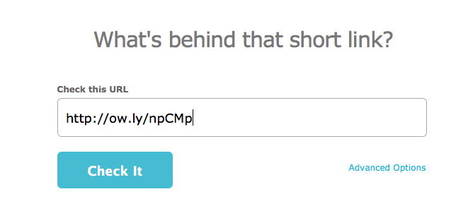 How do you know whether to click that short URL?