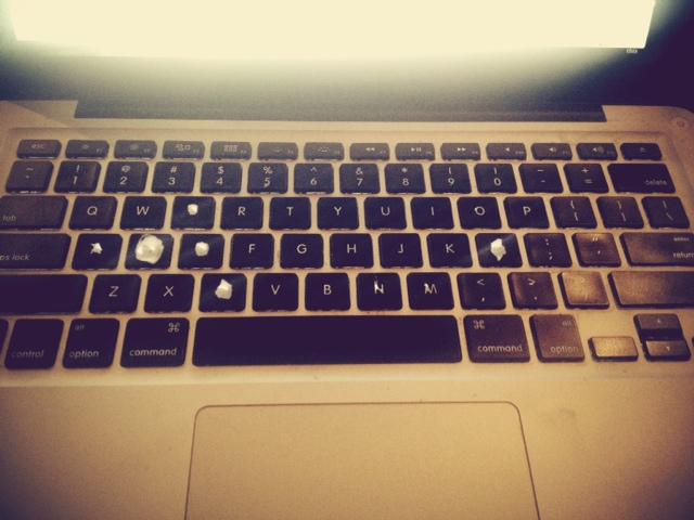 Using keyboard decals to refurbish your Mac keyboard. Or uh, mine.