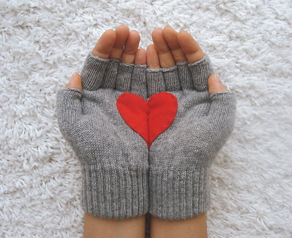 Warming your hands with heart