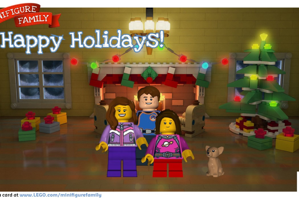 LEGO custom holiday ecard | Cool Mom Tech