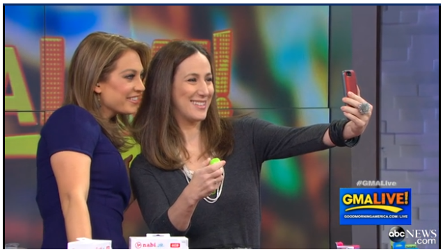 liz gumbinner of cool mom tech and ginger zee on gma live