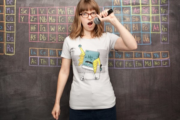 Freddie Mercury chemistry shirt at Threadless | Cool Mom Picks