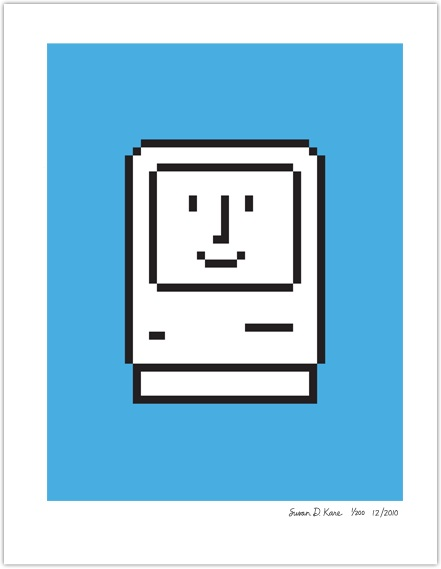 Susan Kare apple logo print | Cool Mom Tech