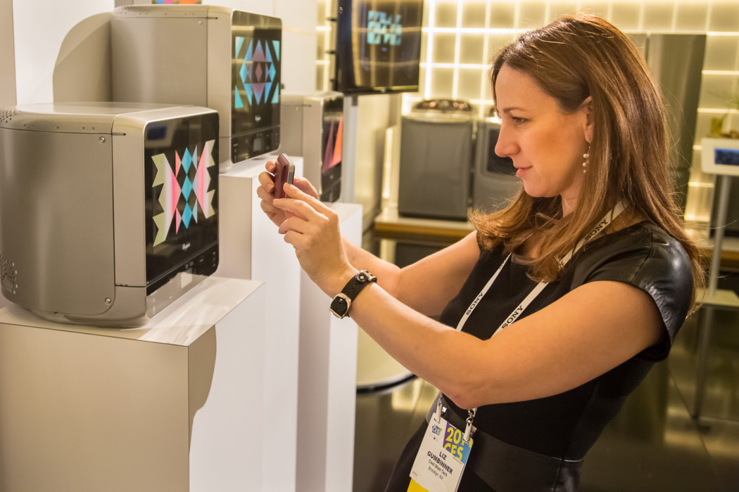 Whirlpool at CES - Liz Microwave | Cool Mom Tech