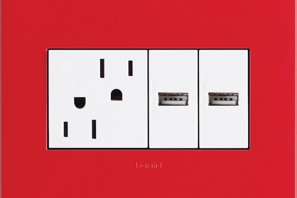 Legrand Adorne USB electrical outlet   Cool Mom Tech