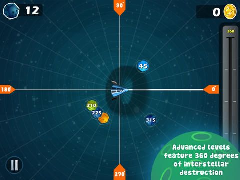Angle Asteroids Math app for kids by Sylvan Play | Cool Mom Tech