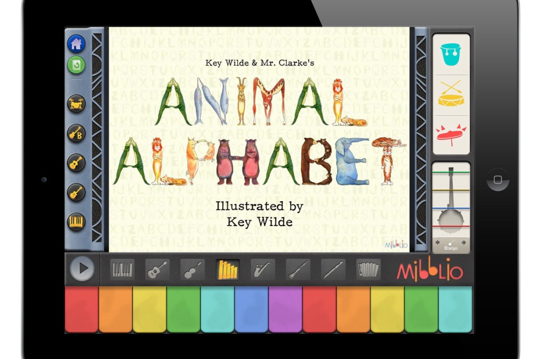 Mibblio kids' music app for iPad