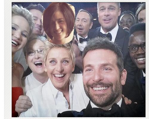 Put yourself in Ellen Oscars Selfie | cool mom tech