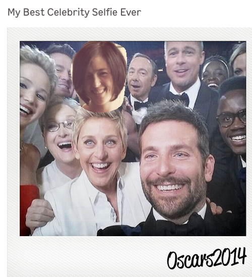 Put yourself in Ellen Oscars Selfie | cool mom tech