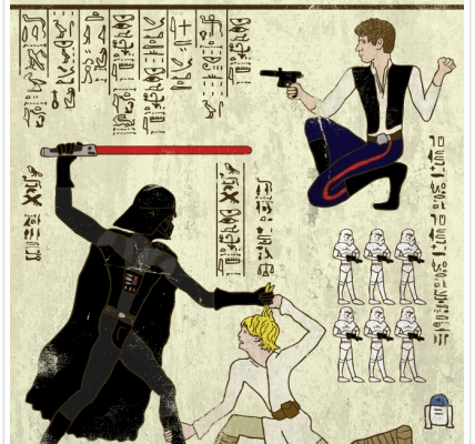 Hero-glyphics Star Wars Poster | Cool Mom Tech