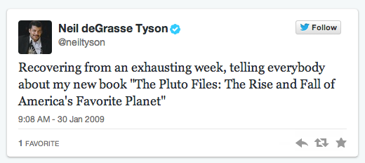 Neil DeGrasse Tyson first tweet