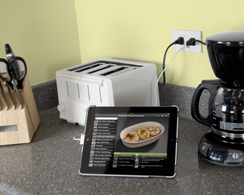 USB electrical outlets - power2u kitchen| Cool Mom Tech