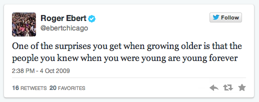 Roger Ebert first tweet