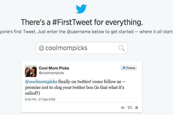 See your first Tweet on Twitter | Cool Mom Tech