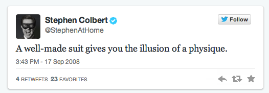Stephen Colbert First Tweet