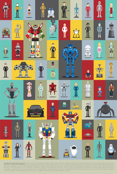 Robot poster -Synthespians by Scott Park | Cool Mom Tech
