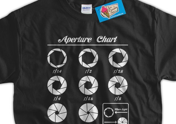 Photography tee- Aperture t-shirt on Etsy