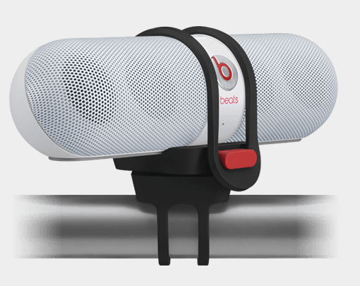 The Beats Pill bike mount. Because well, why the heck not?