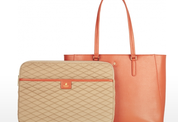 Stylish laptop bags: Knomo leather tote | cool mom tech