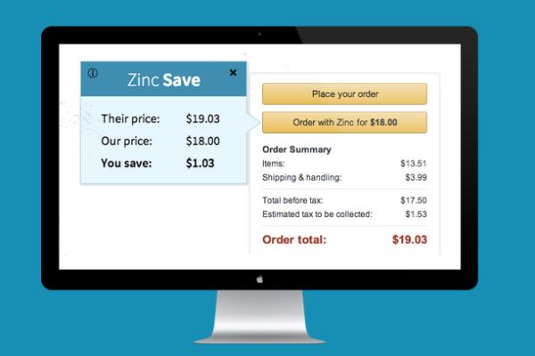 Zinc Chrome Extension for Instant Online Price Comparisons