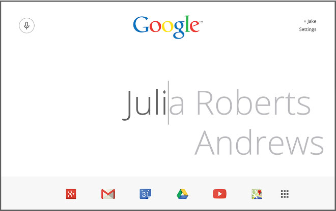 Google page redesign ideas: Single-Cursor Concept by Jake Nolan