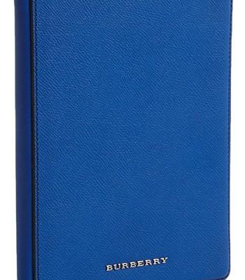 Burberry iPad Mini case in sapphire, now on sale