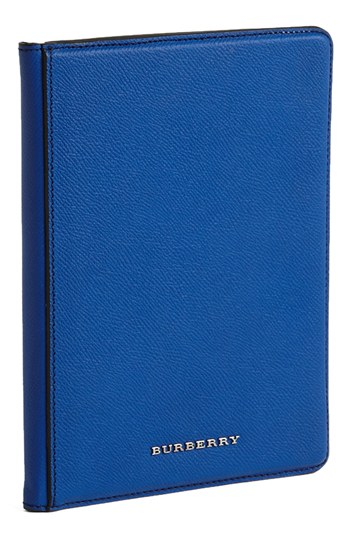 Burberry iPad Mini case in sapphire, now on sale