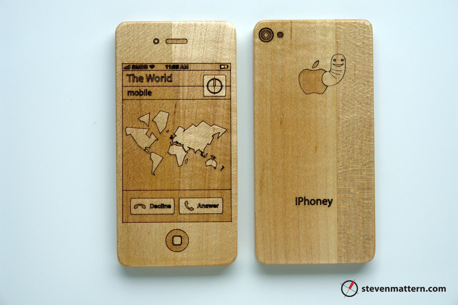 Baby's first iPhone. Don't worry, it's made from maple.