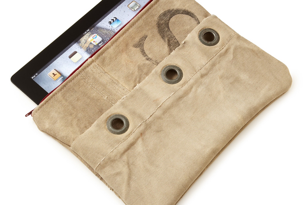 Upcycled Mail Sack iPad Case at Uncommon Goods