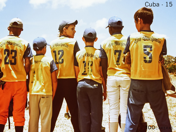 100 Cameras Project - Cuba little league players